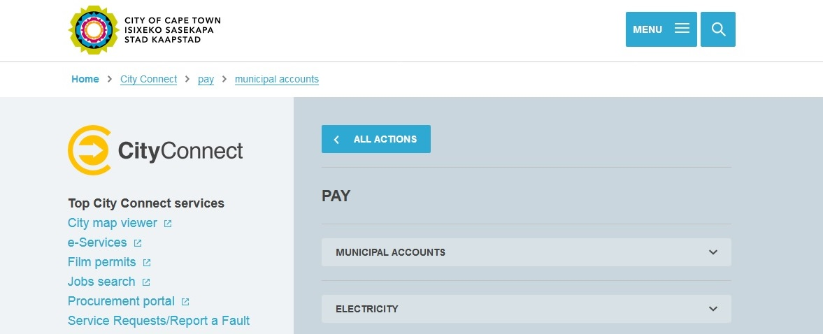 capetown gov za Pay Your Electricity Bill Online : City of Cape Town