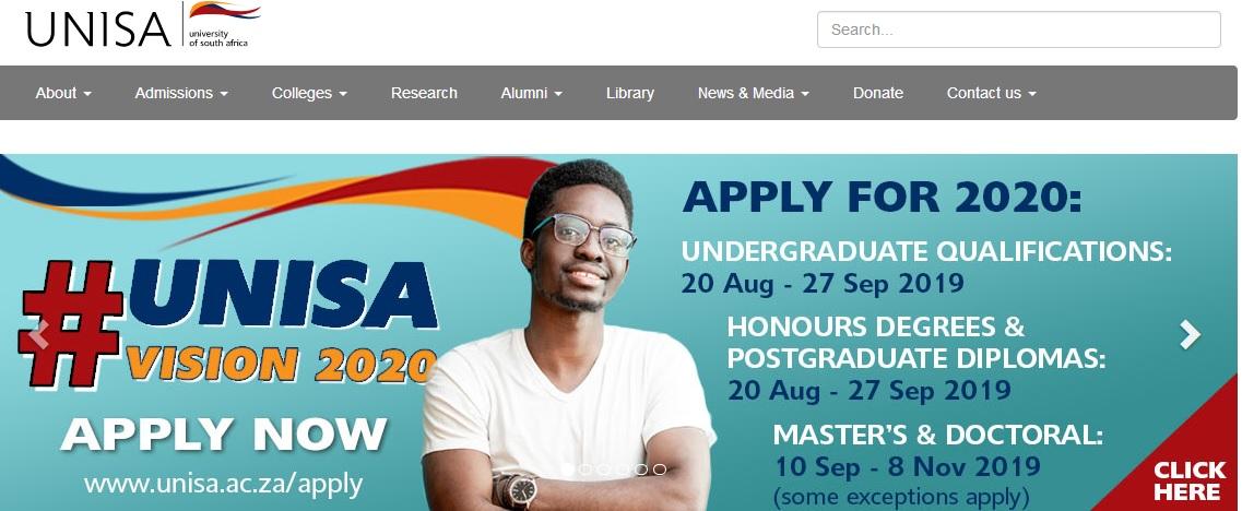 5170-Unisa Online Application Form At Unisa For on