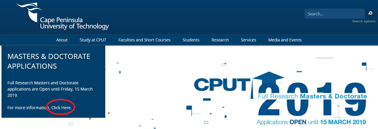cput masters thesis
